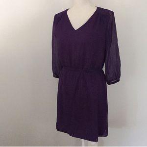 Madewell Broadway & Broome Plum Purple Crepe Dress